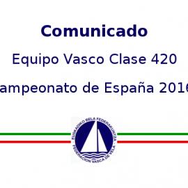 Equipo Vasco 420 Copa de España 2016