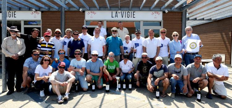 LAGALEA y TXIKIA BAT ganadores de la tercera edición de LA VICTOIRE ( Pasaia-Port Medoc realizando la historica travesia a vela efectuada en 1777 por el Marques de Lafayette)