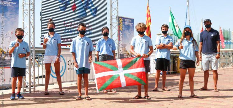 Equipo vasco en el campeonato de España de Optimist 2020